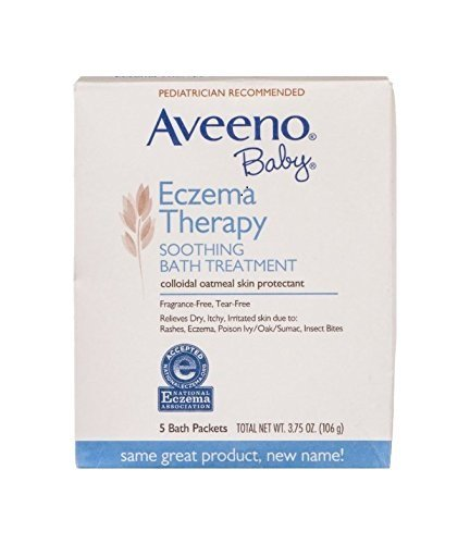 Aveeno Baby Soothing Bath Treatment Packets Eczema Therapy, 5 Count