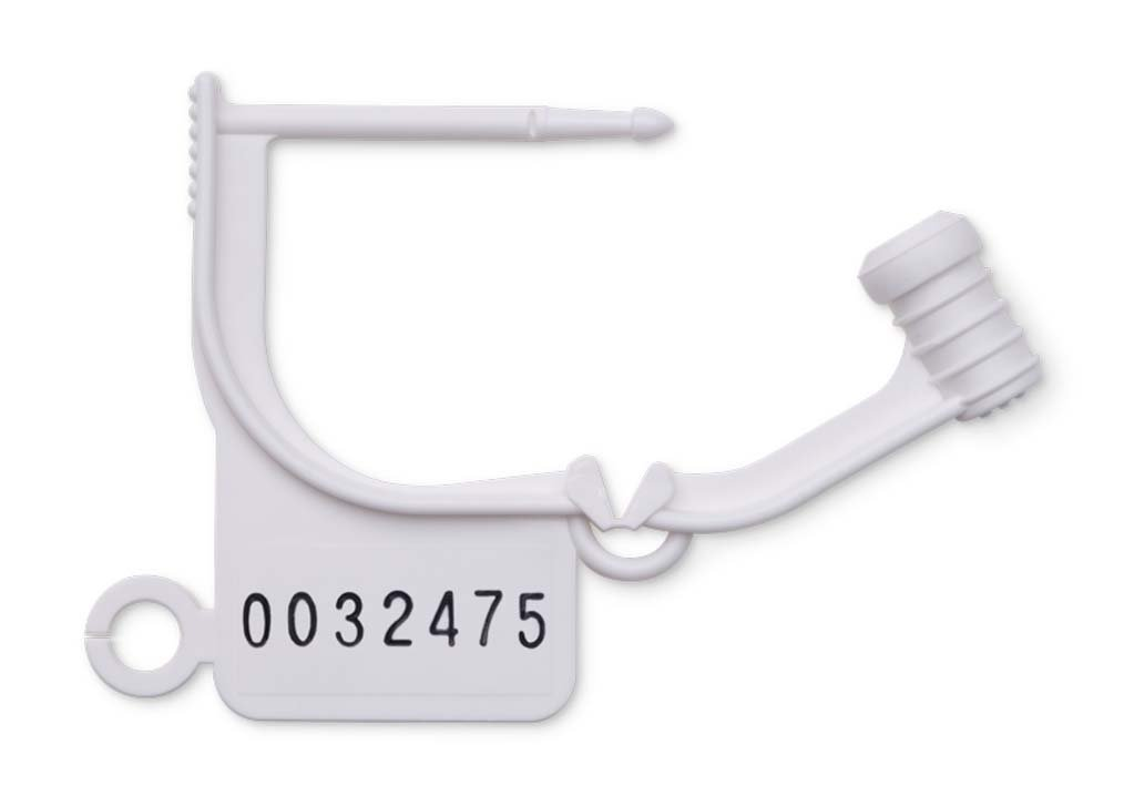Key Surgical LT-100N Locking Tag, Uniquely Numbered, White (Pack of 100)