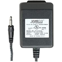Jameco Reliapro ACU120100Z9121 AC to AC Wall Adapter Transformer 12 VAC @ 1000 mA Straight, 3.5 mm Male Plug, Black