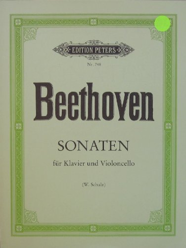 Fur Violoncello Und Klavier (Beethoven - Sonatas for Piano and Cello (Sonaten für Klavier und Violoncello) )