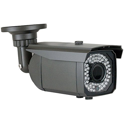 GW Security 5 Megapixel 2592 x 1920 Pixel HD 1920P Outdoor Network PoE Weatherproof 5MP Security IP Camera with 2.8-12mm Varifocal Zoom Len, 64-IR LED 180FT IR Distance