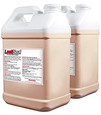 LastiSeal Concrete Stain & Sealer (5-gal.) - Waterproofs & Stains Concrete In One Step! (Rustic Brown)
