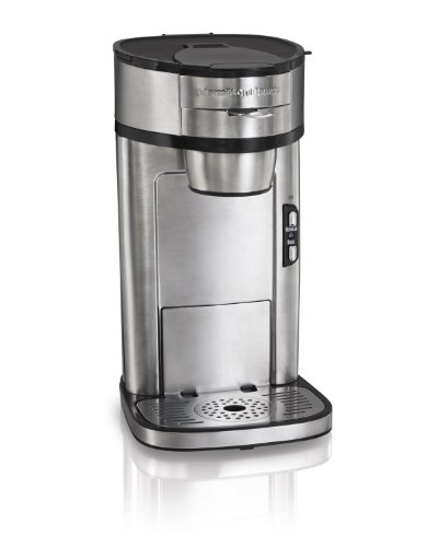 - Hamilton Beach The Scoop Single Serve Coffee Maker, Fast Brewing, Stainless Steel (49981A),