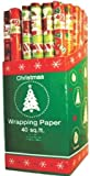 Ddi Christmas Gift Wrap Rolls - 30' X 40 Sq.Ft/Roll (Pack Of 48)