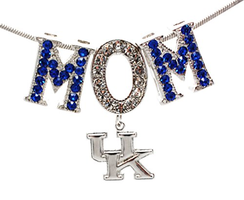 Violet Victoria & Fan Star KENTUCKY WILDCATS MOM NECKLACE - CRYSTAL