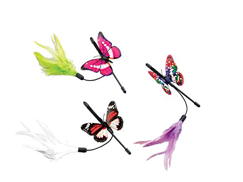 Ethical Pet Products (Spot) Fluttering Butterfly Mini Teaser Wand, 8