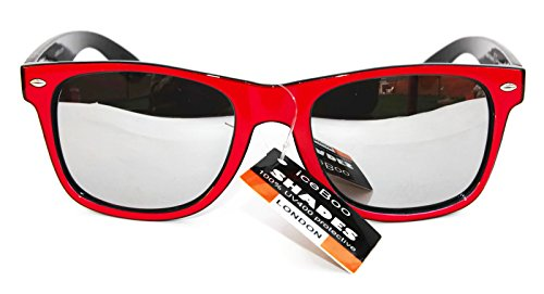 UV400 Gafas Classic Wayfarer de Lentes Unisex New dos Azul tonos sol Retro Vintage Espejo de TfOURwpq