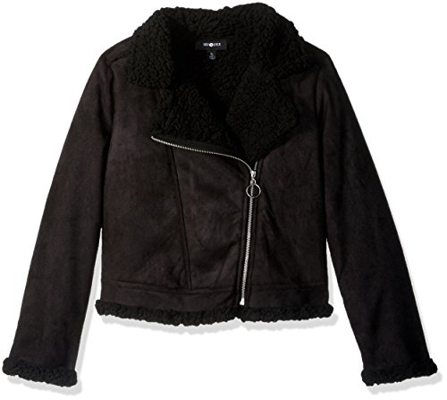 Amy Byer Cropped Shearling Jacket