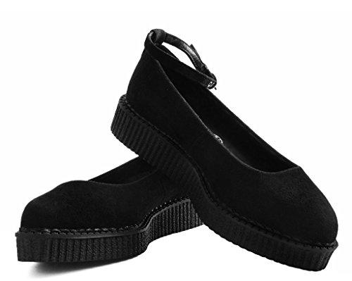 Enredadera Ballet Puntiaguda k Negro Imitación Shoes ' T Gamuza u S Women De PAvw7
