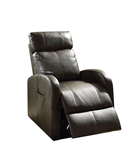ACME Furniture 59405 Ricardo Recliner with Power Lift, Dark