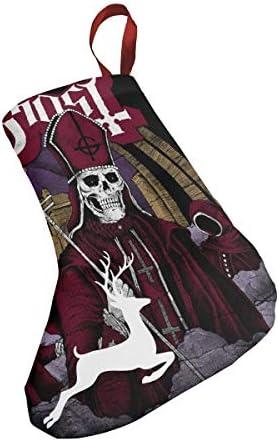 クリスマスの日の靴下 (ソックス3個)クリスマスデコレーションソックス ゴースト音楽 クリスマス、ハロウィン 家庭用、ショッピングモール用、お祝いの雰囲気を加える 人気を高める、販売、プロモーション、年次式