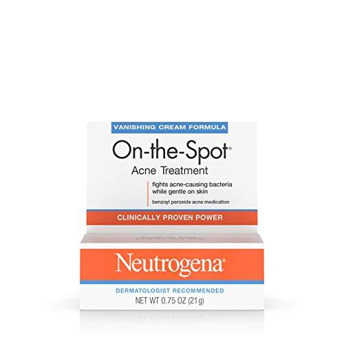Neutrogena On-The-Spot Acne Spot Treatment with 2.5% Benzoyl Peroxide Acne Treatment Medicine to Treat Face Acne, Gentle Benzoyl Peroxide Pimple Gel for Acne Prone Skin,.75 oz (Pack of 6)