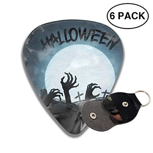 Celluloid Guitar Picks 3D Printed Halloween Zombies Head Best Guitar Bass Gift For Beginner ()