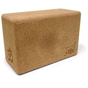 Gaiam Sol Natural Cork Yoga Block