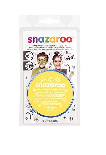 Snazaroo Colart Americas 1119222 Face Paint 18ml-Bright Yellow ()