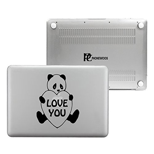 PhoneTatoos - Love Panda Clear/ Transparent Plastic Hard Case Cover for Macbook Pro RETINA 13'' (Model: A1502 or A1425) by EMP