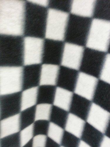 ArtOFabric Fleece Printed Black and White Checkered Print Th