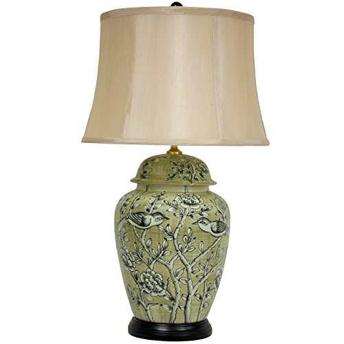 Jar Porcelain Ginger Lamp (ORIENTAL FURNITURE 25