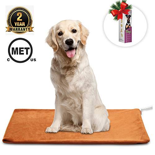 MARUNDA Pet Heating Pad ,Dog Cat Pet Heating Blanket Indoor Waterproof,Auto Constant Temperature Warming 15x24 inches Bed with Chew Resistant Steel Cord