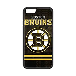 Boston Bruins Cell Phone Hard Case for iPhone 6(4.7) Plastic and TPU (Laser Technology)