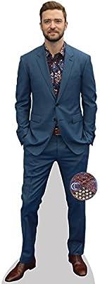 Justin Timberlake (Blue Suit) Cardboard Cutout (lifesize OR Mini Size). Standee.