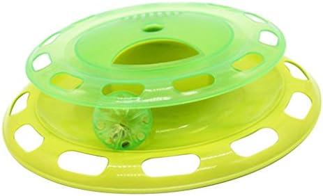 CUTICATE 猫の子猫クレイジースクラッチ玩具スクラッチャープレートトラックボールの活動のおもちゃ