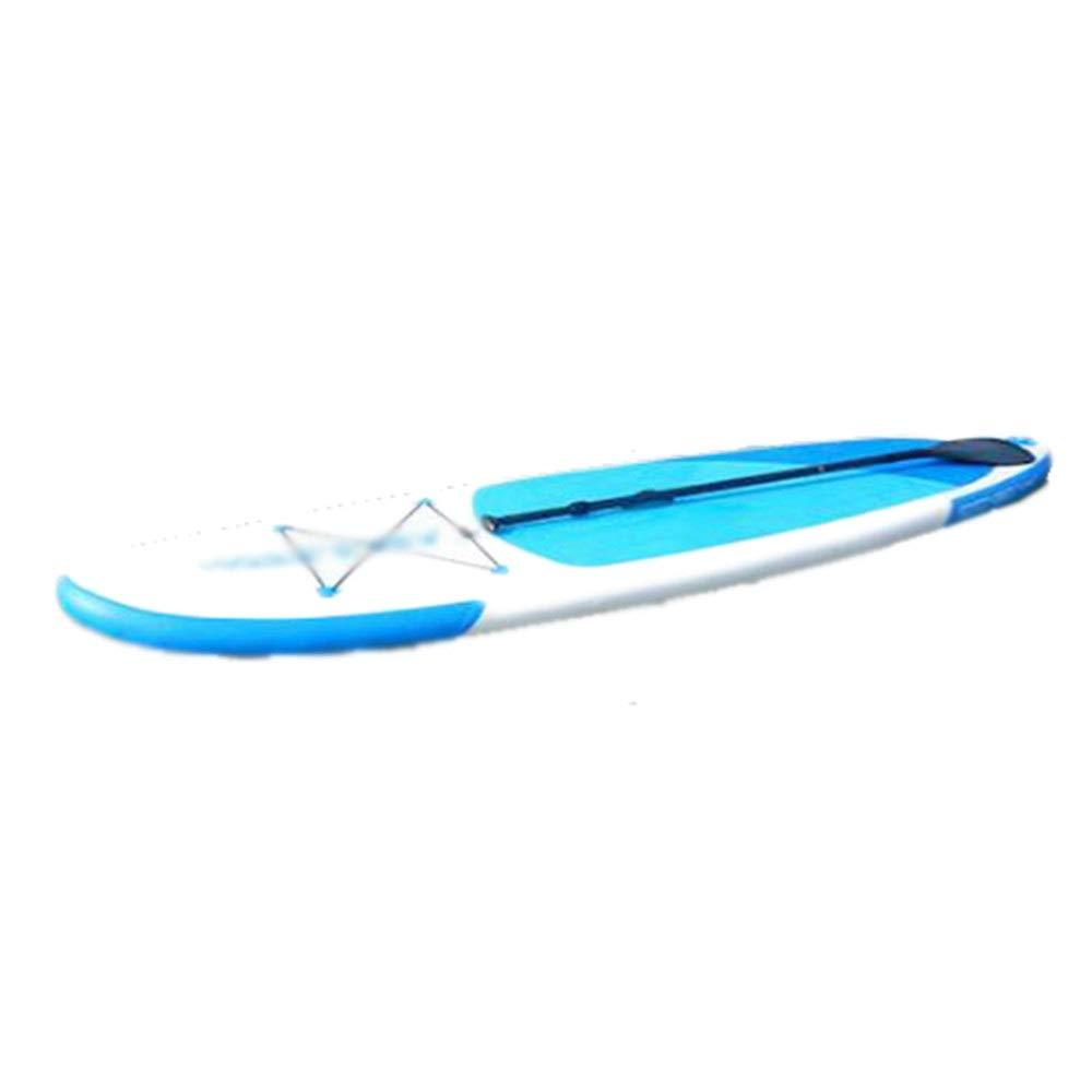 インフレータブル スタンドアップパドルボード 膨脹可能なまわりの大人の波はシャフトのかい、ひもおよびポンプが付いているかい板SUPを立てます マリンスポーツ アウトドア 海 夏 セット (色 : 青, サイズ : 305x76x10cm) 青 305x76x10cm