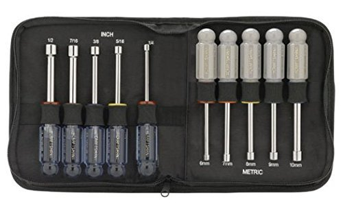 Craftsman Inch and Metric 10 pc. Nut Driver Set in Zippered Case ()