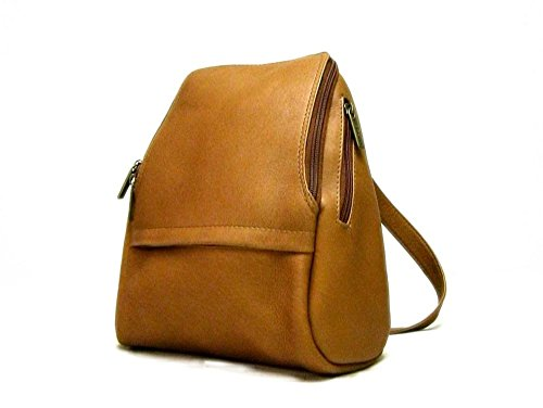 Le Donne U-Zip Mini Leather Backpack in Tan