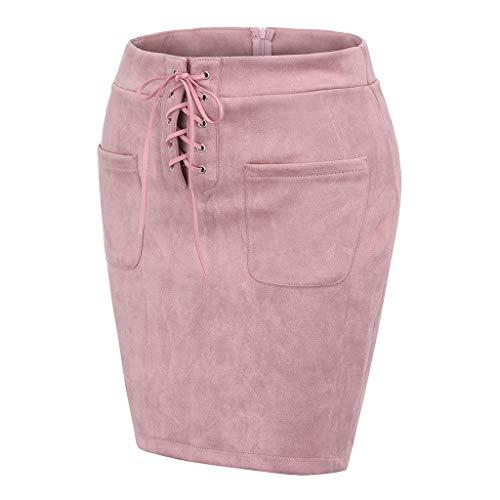 Taille Up Haute Crayon Mode Rose Jupe Push Bandage Hanche Féminine Mini Slim Solide iTOkPuZX