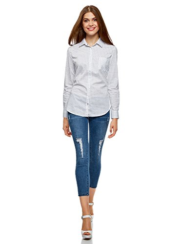 oodji 1075g Tasca Basic con Bianco Camicia Ultra Donna 4Cwxq0r4nU