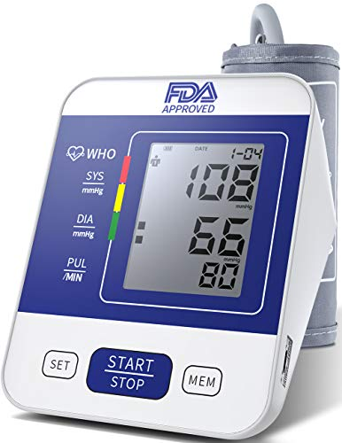 Blood Pressure Monitor Upper Arm FDA Approved with Large LCD Display