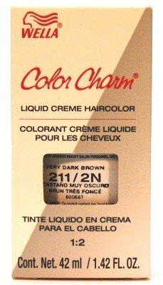 Wella Color Charm Liquid #0211 Very Dark Brown Haircolor (Case of 6)