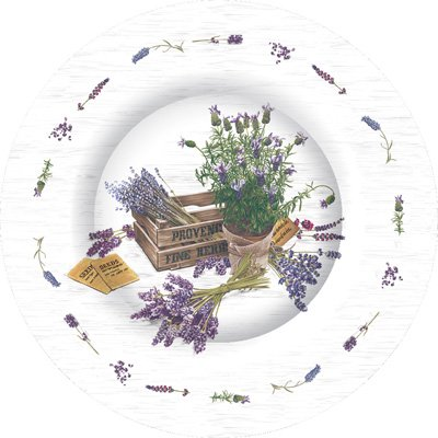 Bundle Includes Paper Plates /& Napkins for 8 Guests in a The Flavour of Provence Design Lavender Garden Themed Party Supply Pack