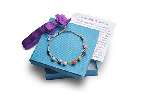 Blessing Bracelet with a Heart Warming Inspirational Card Presented in a Gorgeous Gift Box for Best Friends, Couples & Family | The Perfect Caring Gift by BlankieGram -