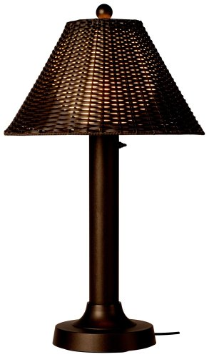 Tahitti 17257 Bronze 34-inch Table Lamp With Walnut Wicker Shade by Patio Living Concepts