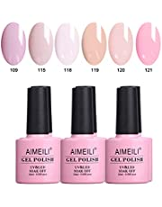 AIMEILI Soak Off UV LED Gel Nail Polish Multicolour/Mix Colour/Combo Colour Set Of 6pcs X 10ml - Kit Set 31