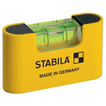 Stabila 11901 Magnetic Pocket Level PRO with Holster Yellow from Stabila