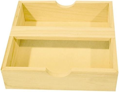 PWI Servilletas Caja con Soporte de Madera para Manualidades y Decorar – Made in France: Amazon.es: Juguetes y juegos