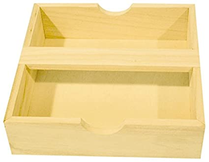 PWI Servilletas Caja con Soporte de Madera para Manualidades y Decorar – Made in France