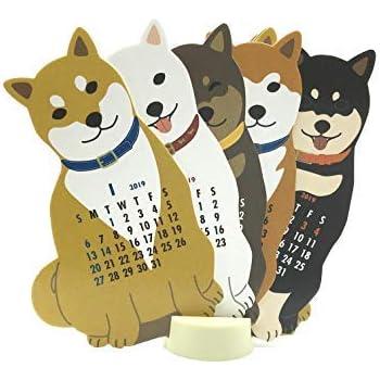 Japanese Shiba-Inu Dog 2019 Die-Cut Desktop Calendar