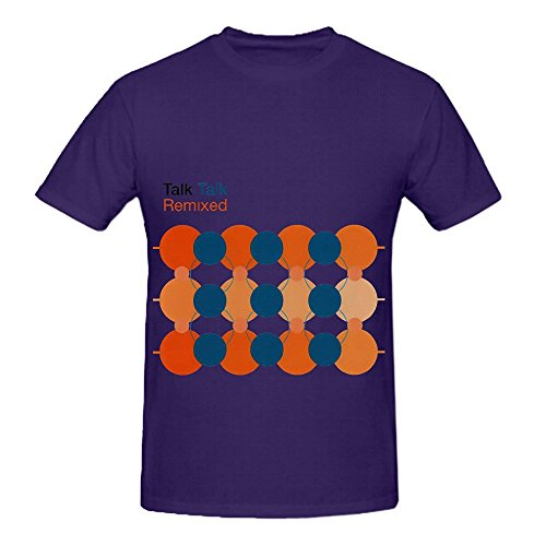 - Talk Talk 12x12 Original Remixes Jazz Men Short Sleeve Tee Shirts Purple