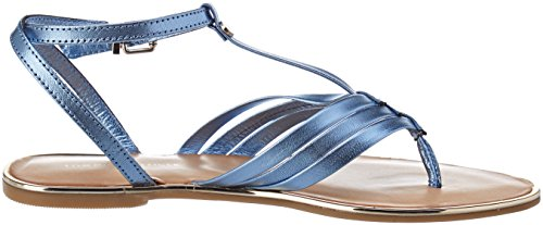 Bleu Metallic T Tommy Hilfiger Salomés Manor Femme 415 English Flat Bar Sandal 5q6BZBx78w