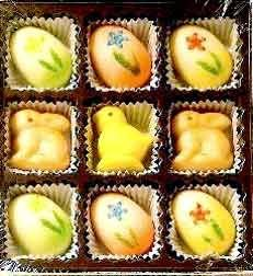 Bergen Easter Marzipan Candy Gift Box - 9 Pieces