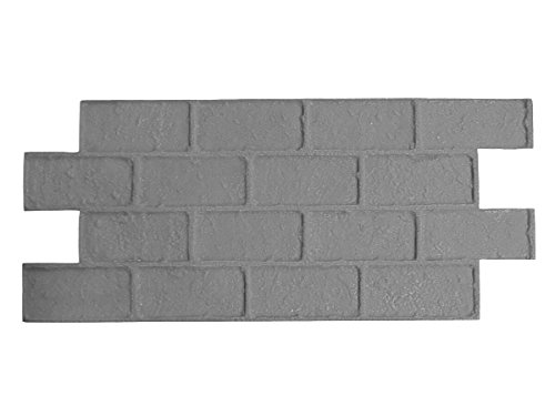Worn Brick Running Bond Single Concrete Stamp Mat (Floppy) (Columns For Brick Patio)