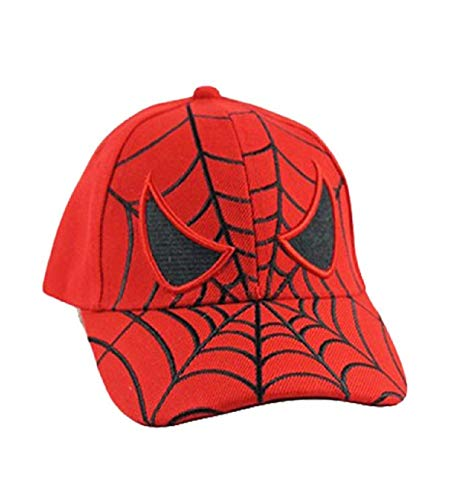 Kid's Youth Spider Man Hat - Adjustable Baseball Cap (Red Spider Eyes) ()