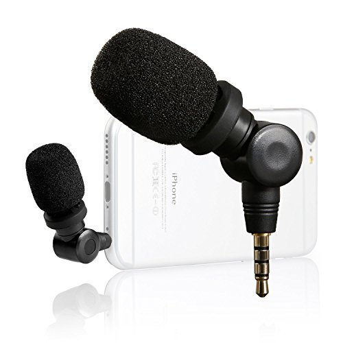 Saramonic SmartMic Mini Flexible Condenser Microphone with High Sensitivity for Apple IOS Devices and Android Smartphones (Directional Microphone For Iphone)