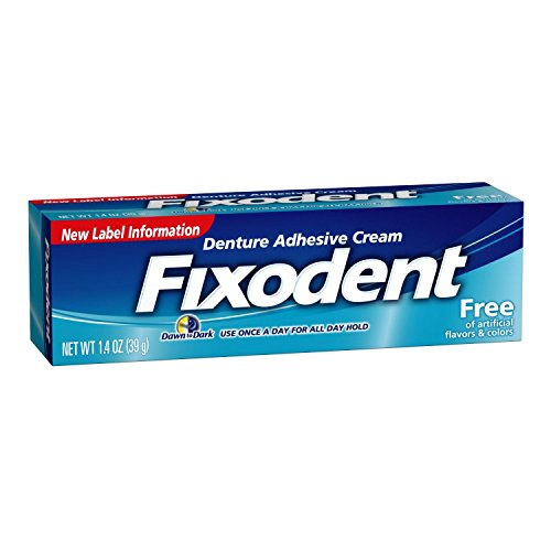 Fixodent Free Denture Adhesive Cream 1.4 Oz by Fixodent