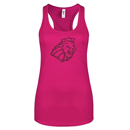 592c2f94aa Methodist Next Level Ladies Raspberry Ideal Racerback Tank  Lion Head Hot  Pink Glitter  -