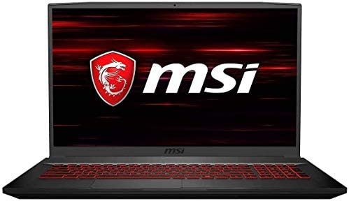 "MSI GF75 Thin Gaming Laptop, 17.3"" FHD 120Hz IPS Screen,Intel Core i5-10300H Processor Up to 4.50 GHz, NVIDIA GTX 1650 Graphics, 8GB RAM,512GB PCIe SSD, Webcam,Wireless-AC,Bluetooth,Win10 Home,Black"